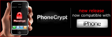 PhoneCrypt 3G - New release.Now compatible with iPhone