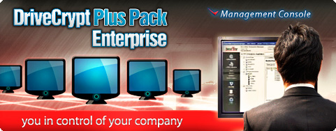 DriveCrypt Plus Pack Enterprise - Management Console for you company. The enterprise version most efficient of market.